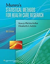 Munro's Statistical Methods for Health Care Research by Plichta ScD CPH, Stacey B., Kelvin PhD MPH, Elizabeth 6th (sixth), Revised Repri Edition (9/6/2012)