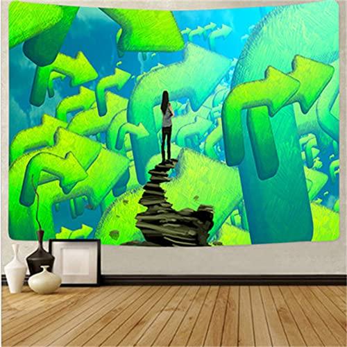 YYRAIN Impresión Verde Decoración De La Pared Tapiz De Regalo Hogar Dormitorio Sala De Estar Pasillo Fondo Tela Ropa De Cama Colcha 230cm x 150cm{Width×Height} B