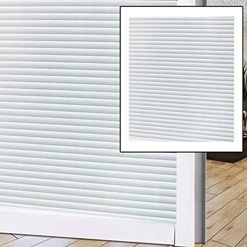 Warmiehomy Sichtschutz-Fensterfolie, 3D-Folie, nicht-klebend, statisch, matt, Fensterfolie für Zuhause, Küche, Büro, Konferenzraum (dichte Streifen)
