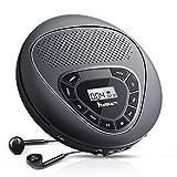 NAVISKAUTO Tragbarer CD Player Integrierter Lautsprecher 1400mAh Akku TF-Karte Slot CD/MP3/WMA/CD-R/ CD-RW für Sprachenlernen Hörbücher Musik