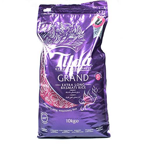 Tilda Grand Reis, Basmati Reis 10 Kg, Extra Long Golden Sella Reis
