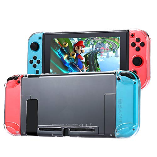 Tasikar Tasche Kompatibel mit Nintendo Switch Trennbarer Transparenter Kristall Hülle Kompatibel mit Nintendo Switch Console und Joy-Con Controllers (Transparent)