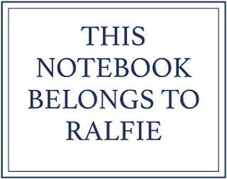 This Notebook Belongs to Ralfie