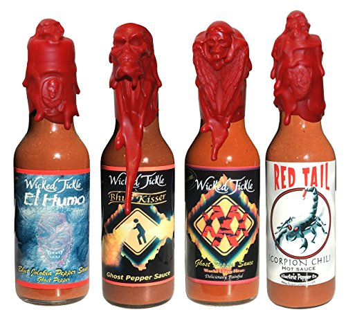 Ghost Pepper Hot Sauce Wicked Tickle XXX Chipotle Extra Hot World's Hottest Hot Sauce Gift Wax Sealed Wings