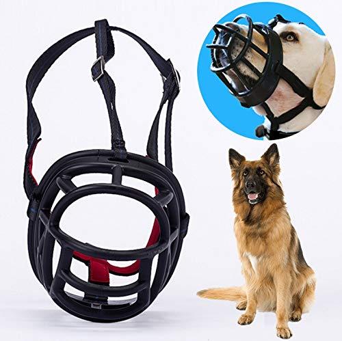 Qiuge Maulkorb for Hunde, Hunde Mund, weichen Silikonkorb for Hunde, köstlich Masken und verstellbare Leinen, anti-Beißen, Bellen und Kauen, Größe:. 11,2 * 10,7 * 14.3cm (Schwarz) ( Color : Black )