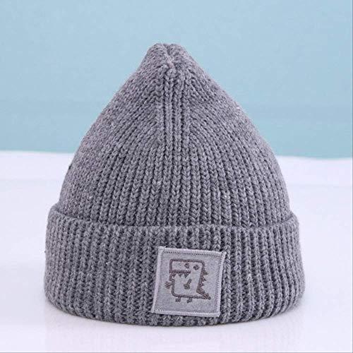 QZHYGE Baby Capdinosaur Crochet Beanie Hat para niños Niñas y niños Gorro de Punto para Madre y bebé Gorras de Invierno para niños Sombrero de bebé de 6 Meses a 3 años