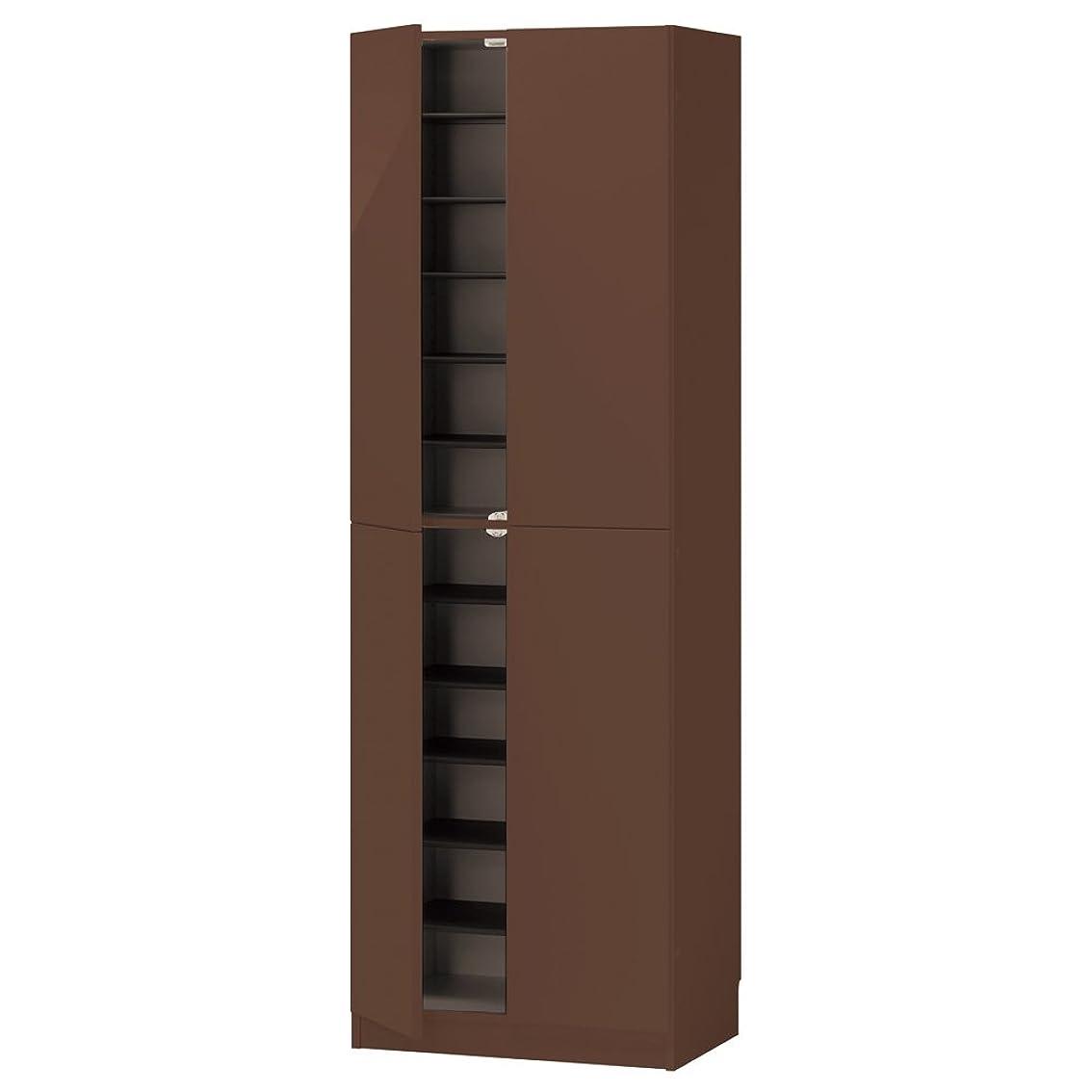 ビーチ評判フライカイトインテリアに合わせて8色&13タイプから選べるシューズボックス 扉 幅60高さ180.5cm 755106(サイズはありません ク:グレーウォルナット(モクメ))