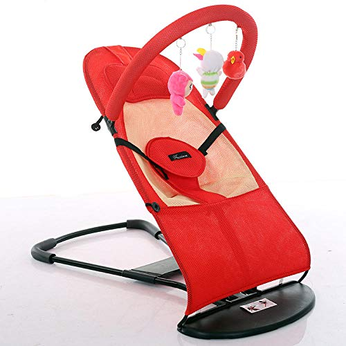Best Deals! RUIKESI Bouncer to Coax Baby Artifact Baby Rocking Chair Comfort Chair Cradle Bed with B...