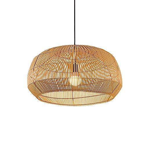 Araña, Tatami Creativo Lámpara Geométrica Sombra Luz Ligera, Araña De Madera Japonesa,...