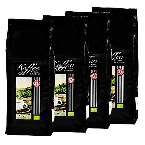Kaffee-Spezialitäten aus drei Erdteilen, Bio, ganze Bohne (4 x 250g)
