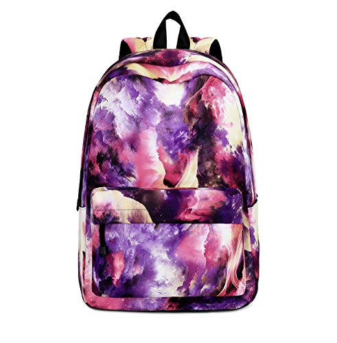 Joymoze Mochila para niño y niña para la Vuelta al Cole Linda Mochila Escolar Infantil con múltiples Bolsillos Fantasía púrpura