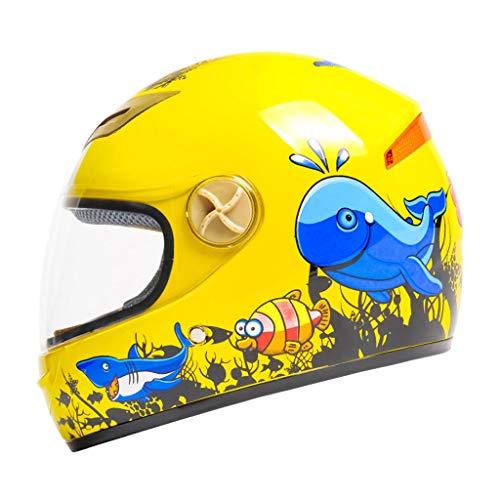 ZXW Casco- Casco para niños Bicicleta eléctrica Bicicleta Drop Cartoon Four Seasons...