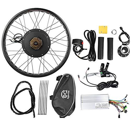 Bicicleta eléctrica 48 V 1000 W Kit de conversión de motor de cubo rueda 26 x 4 pulgadas trasera volante motor kit de conversión