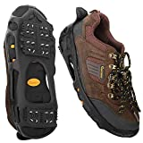 MoKo Ice Cleats, Outdoor Walk Traction Ice Crampons for Shoes and Boots