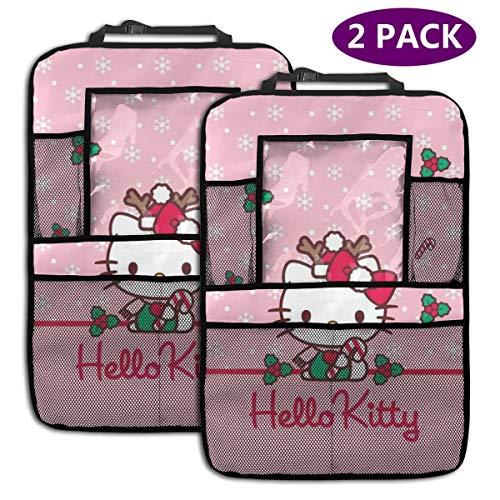 TBLHM Hello Kitty Lot de 2 Sacs organiseurs pour siège arrière de Voiture avec Support pour Tablette