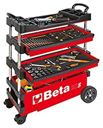 Beta Tools C27S-R folding tool trolley cart with wheels image
