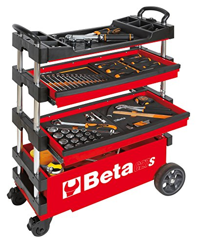 Beta Herramientas C27S-R Automotive único Funda para Carro para Herramientas, Rojo
