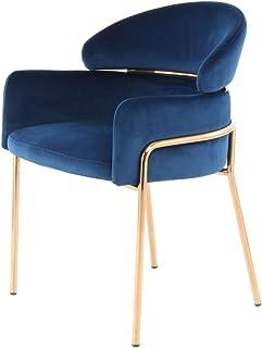 One Couture Silla de Comedor, Azul/Oro Rosa, 57 x 58 x 79