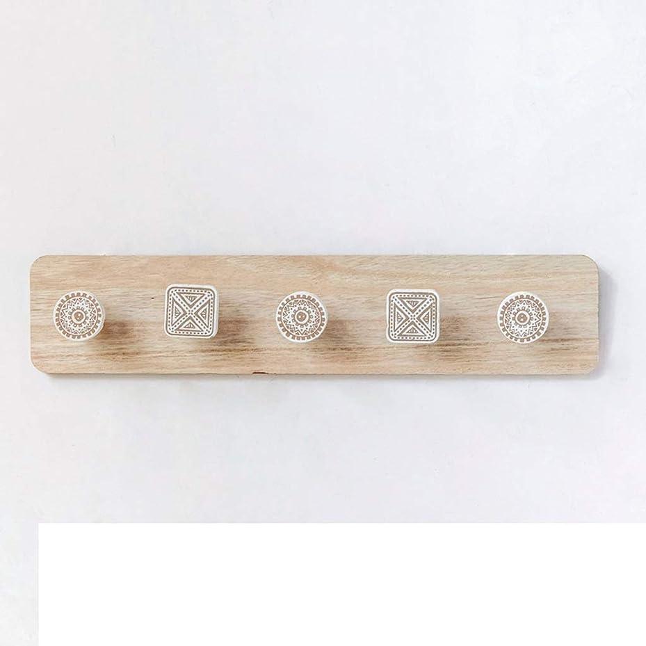 聖人薄めるフラスコ天使の家 ウォールマウントフック、ヘビーデューティサテンニッケルウール、木製ボードコートラック、タオル用フック服 ハンガーラック (色 : 5 hooks)