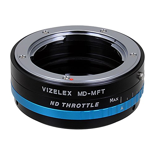 Vizelex ND Throttle Lens Mount Adapter from Fotodiox Pro - Minolta MD (MC, SR, Rokkor) Lens to Micro-4/3 Mount Cameras (such as OM-D E-M10, Lumix GH4, and Black Magic Pocket Cinema Camera) - with Built-In Variable ND Filter (ND2-ND1000)
