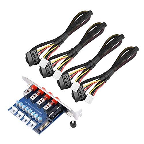 Tomanbery Switcher 4 * Interruptor de Control de Disco Duro Interruptor de Control de alimentación Trasero de Escritorio 1PH001 Material metálico para computadora de Escritorio