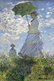 Close Up Woman with a Parasol Poster Madame Monet and Her
