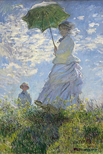 Close Up Woman with a Parasol Poster Madame Monet and Her Son (61cm x 91,5cm)