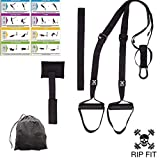 R.I.P. FIT Bodyweight Resistance Training Straps. Best Travel, Hotel, Outdoor Workout and Office Exercise Equipment. an Entire Gym in a Bag. Anchors to Any Door Or Bar Workout Anywhere!