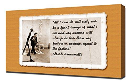 alberto giacometti quotes 1 - Canvas Art Print
