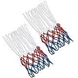 TRIXES Red de baloncesto de 12 lazos de nylon rojo//blanco//azul