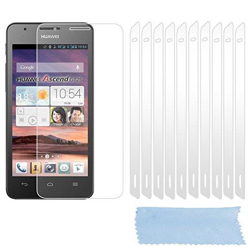 Cadorabo Bildschirmschutzfolien für Huawei Ascend G525 / G520 - Schutzfolien in HIGH Clear – 10 Stück hochdurchsichtiger Schutzfolien gegen Staub, Dreck & Kratzer