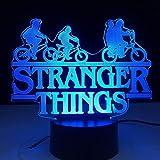 Stranger Things American Web serie de TV Led luz nocturna 7 colores cambio Sensor táctil dormitorio luz nocturna lámpara de mesa mejor regalo