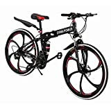 Best Foldable Bikes - Sagton Outroad Mountain Bike, Outdoor Foldable Lightweight 21 Review
