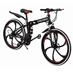 "➤➤【26-Inch Wheels】:Give your child versatility and power while riding with the 26 "" Bike.The car comes with a kettle and a bag, which is convenient for loading sundries and purified water, which is more convenient during riding. ➤➤【Upgrade Bike】:This..."