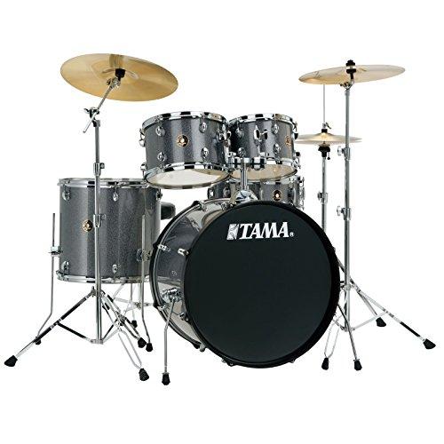 Tama RM50YH6-GXS Rhythm Mate Schlagzeug Set (5-teilig) mit 50,8 cm (20 Zoll) Bassdrum inkl. dreiteiligem Beckenset/6-teiliger Hardware Galaxy silber