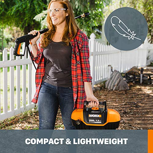 WORX WG601 13Amp, 1500 psi / 1.2 gpm Electric Pressure Washer