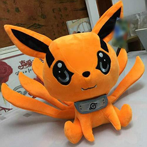 yuanchuang Peluche Juguete De Anime Japonés 25-30 Cm Kyuubi Kurama Nueve Cuentos Fox Demon Plush Animal Suave Juguete De Peluche Niñas Niños Amante Regalo