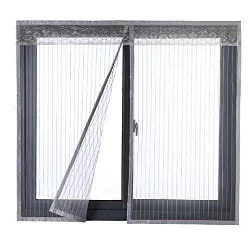Icegrey hordeur raam bescherming tegen insecten magneet vliegengordijn voor balkondeur 34 maten geschikt tot 200cm x 2O0cm MAX 80x140cm grijs