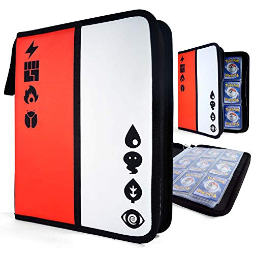 Binder for Pokemon Cards - Trading Card Binder Includes 30 Removable 9-Pocket Organizer Sheets - Pokemon Card Binder with Sleeves Holds 540 Cards, Pokke