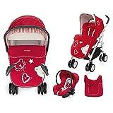 Brevi (Italy) Modular System Millestrade, 759-628 Rose, 0 Month +, Stroller + Carrycot + Car Seat +...