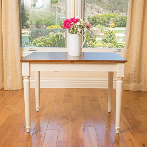 Christopher Knight Home Clearwater Rectangular Solid Top Table, Dark Oak / Antique White