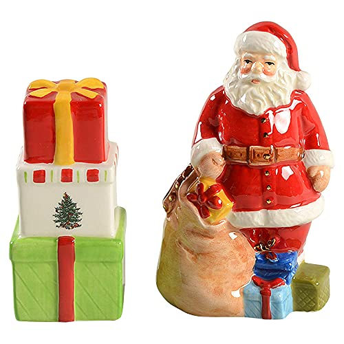Spode Christmas Tree Santa Gifts Salt & Pepper Set