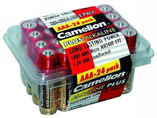 Haushaltspack Micro-Batterie CAMELION Plus Alkaline 1,5V, Typ AAA, 24er-Pack