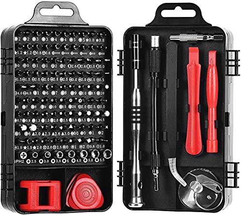 LucaSng - Juego de destornilladores magnéticos 110 en 1 para iPhone Series/Mac/iPad/PS3/PS4/interruptor/gafas/reloj/celular/PC/electrónico