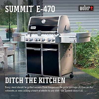 Weber Summit E-470 580-Square-Inch Grill, Black