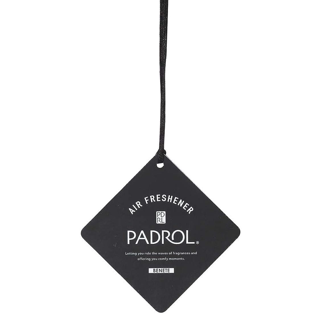局ゆるいしゃがむPADROL ルームフレグランス エアーフレッシュナー BENETE 吊り下げ ホワイトムスクの香り PAB-5-01