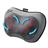 Homedics Rechargeable Shiatsu Pillow - Deep Kneading Massage Pillow with Soothing Heat