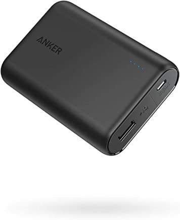 Anker PowerCore 10000, One of the Smallest and Lightest 10000mAh External Batteries, Ultra-Compact, High-speed Charging Technology Power Bank for iPhone X / 8/7, Samsung Galaxy and More