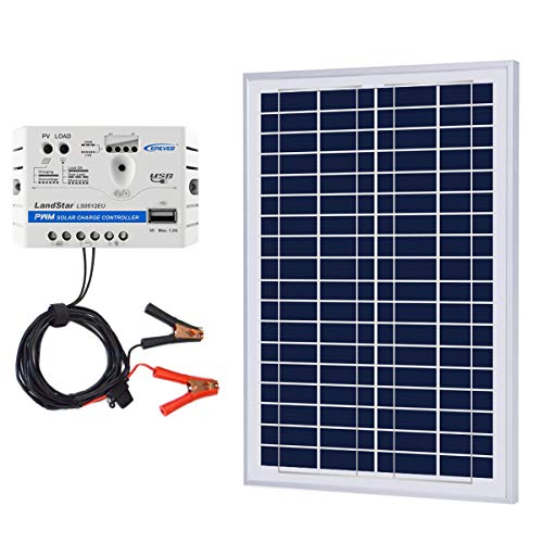 ACOPOWER 25W 12V Solar Charger Kit, 25 Watts Polycrystalline Solar Panel & 5A Charge Controller for RV, Boats, Camping; w USB 5V Output as Phone Charger