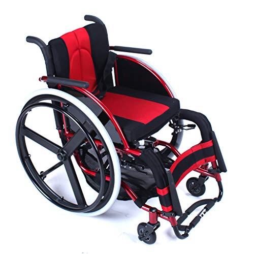 Sportrolstoel, beweegbaar, met ultra lichte aluminiumlegering, vouwbare wagen, gehandicapten, senioren, vrijetijdssport, rolstoel, multifunctioneel, veilig in gebruik.